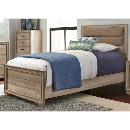 Vendor 5349 Sun Valley 439 Full Upholstered Panel Bed