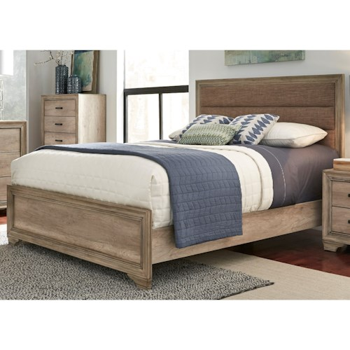 Liberty Furniture Sun Valley 439 King Upholstered Panel Bed