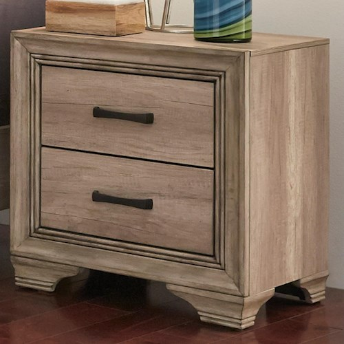 Liberty Furniture Sun Valley 439 Nightstand with 2 Dovetail Drawers