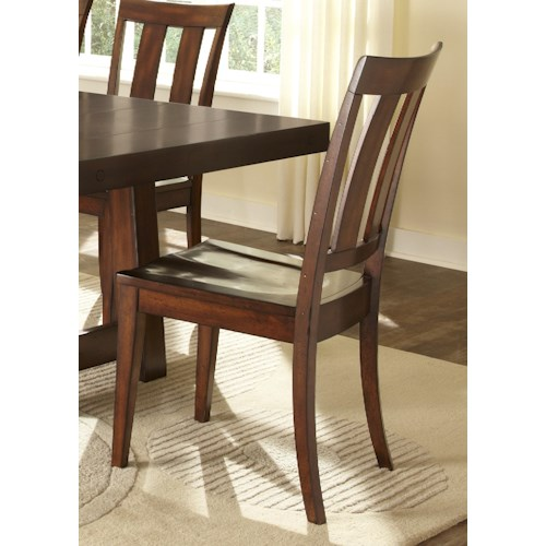 Vendor 5349 Tahoe Side Chair with Slat Back Design and Contoured Seat