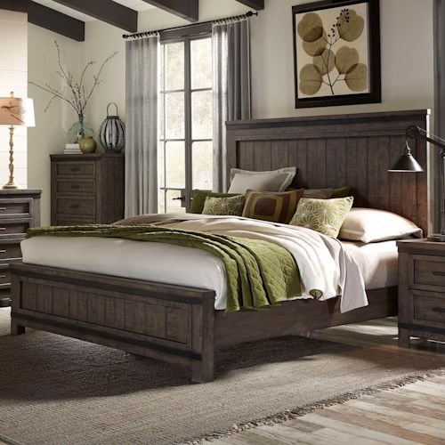 Liberty Furniture Thornwood Hills King Panel Bed