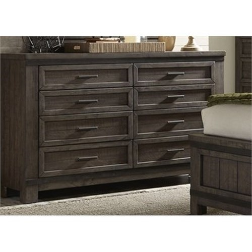 Liberty Furniture Thornwood Hills Dresser with Eight Dovetail Drawers