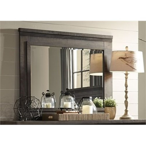 Liberty Furniture Thornwood Hills Mirror with Wood Frame