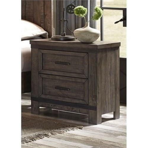 Vendor 5349 Thornwood Hills Night Stand with Two Dovetail Drawers
