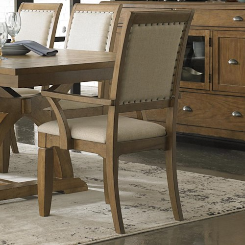 Liberty Furniture Town & Country Upholstered Arm Chair with Nail Head Trim Accents