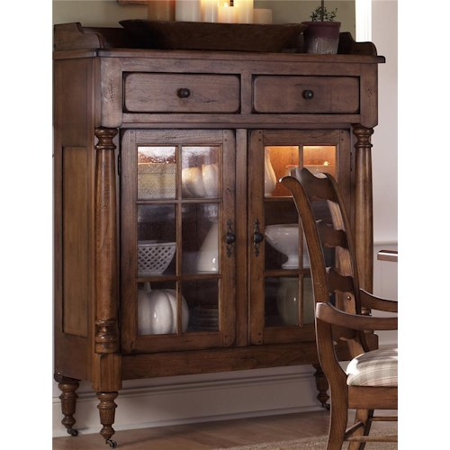 Liberty Furniture Treasures  Display Cabinet w/ Caster Wheels