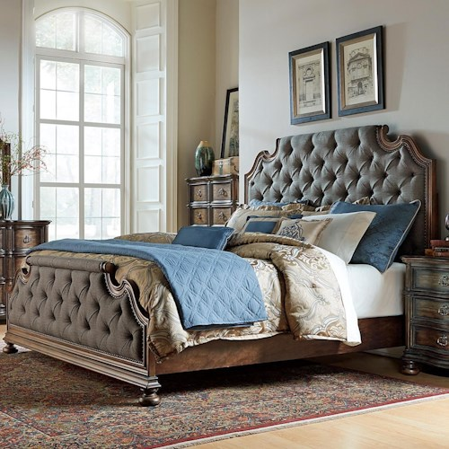 Liberty Furniture Tuscan Valley King Upholstered Bed