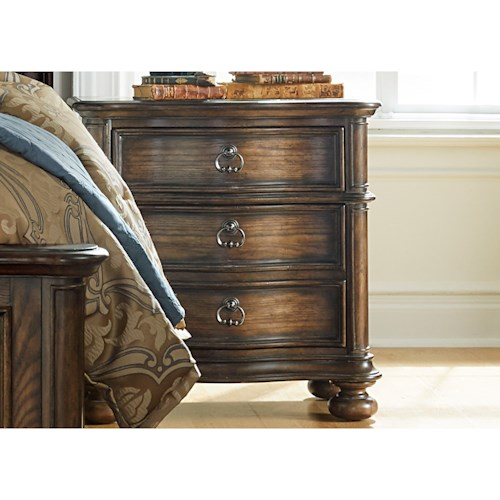Vendor 5349 Tuscan Valley Nightstand with 2 Dovetail Drawers
