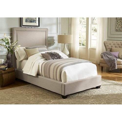Vendor 5349 Upholstered Beds Twin Upholstered Panel Bed