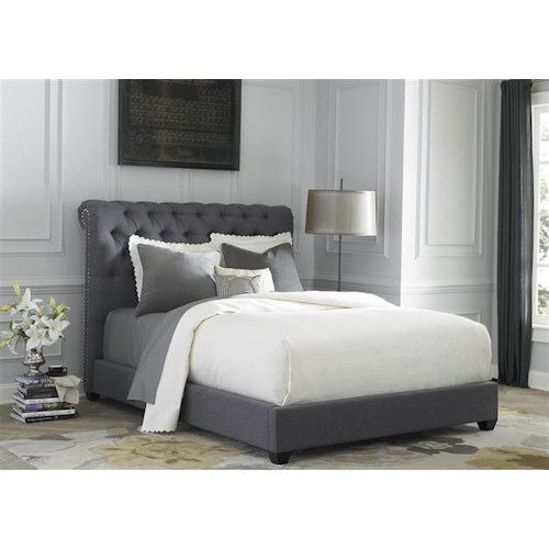 Vendor 5349 Upholstered Beds King Upholstered Sleigh Bed
