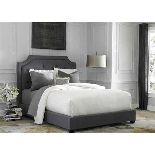 Vendor 5349 Upholstered Beds King Upholstered Sloped Panel Bed