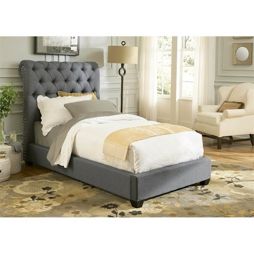 Liberty Furniture Upholstered Beds Twin Upholstered Sleigh Bed