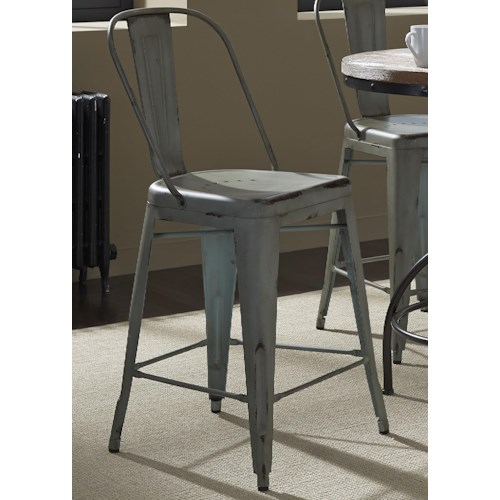Vendor 5349 Vintage Dining Series Bow Back Counter Chair