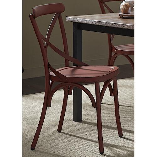 Vendor 5349 Vintage Dining Series X-Back Dining Side Chair