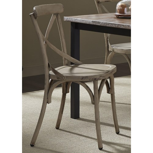 Liberty Furniture Vintage Dining Series X-Back Dining Side Chair