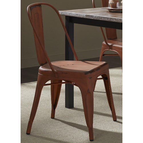 Liberty Furniture Vintage Dining Series Bow Back Dining Side Chair