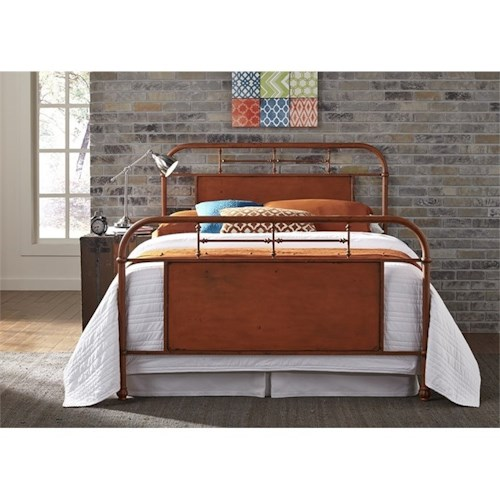 Vendor 5349 Vintage Series Twin Metal Bed with Turned Spindles