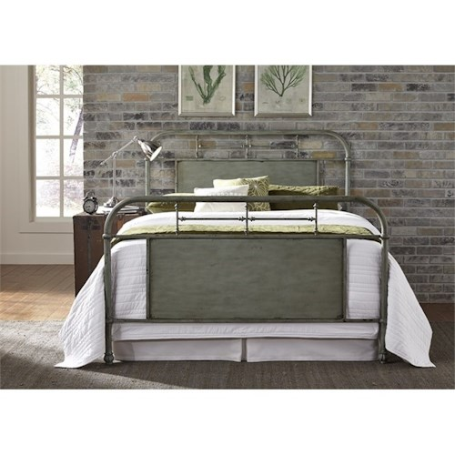 Vendor 5349 Vintage Series Queen Metal Bed with Turned Spindles