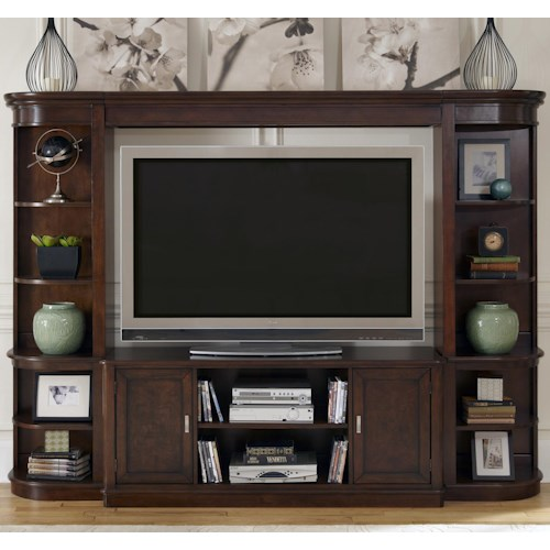Liberty Furniture Wallace Casual Entertainment Center with Piers
