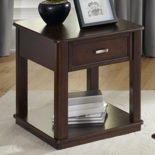 Liberty Furniture Wallace Casual 1 Drawer End Table