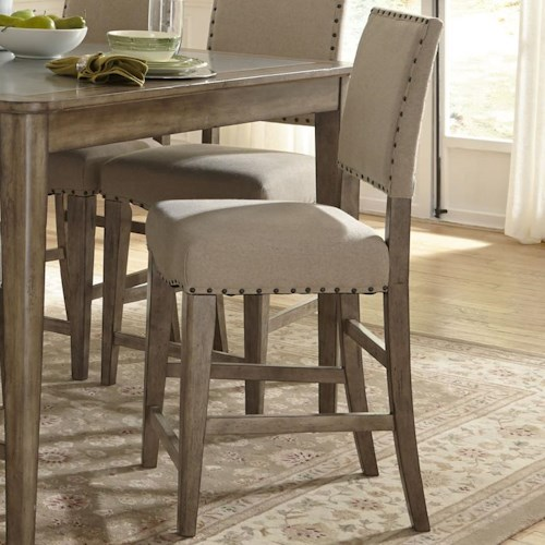 Liberty Furniture Weatherford  Rustic Casual Upholstered Counter Chair