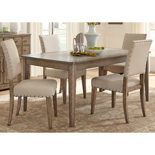 Vendor 5349 Weatherford  Rustic Casual 5 Piece Rectangular Table Set