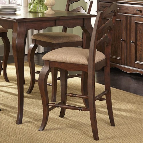 Liberty Furniture Woodland Creek  Transitional Ladder Back Counter Chair