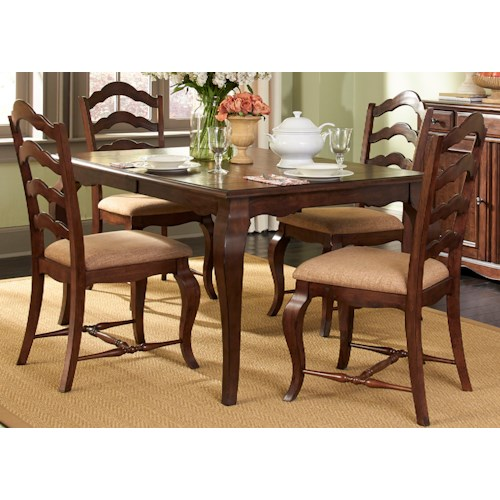 Liberty Furniture Woodland Creek  5 Piece Rectangular Table and Chair Set