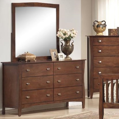Lifestyle 0110 Drawer Dresser w/ Mirror