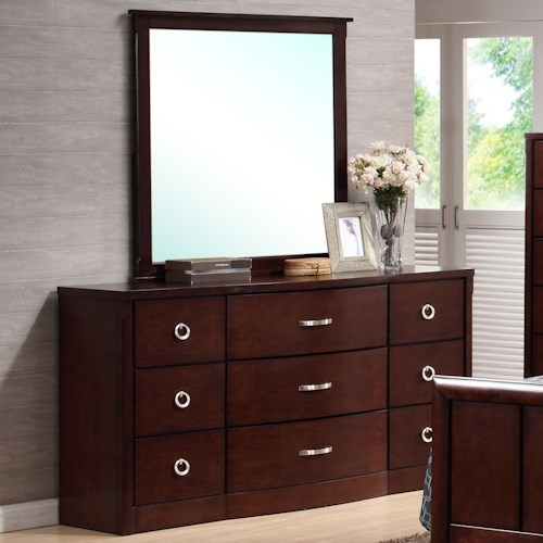 Lifestyle 1173 Dresser w/ Mirror