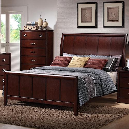 Lifestyle 1173 King Bed w/ Sleigh Headboard