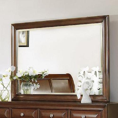 Lifestyle 1192 Framed Cherry Landscape Dresser Mirror