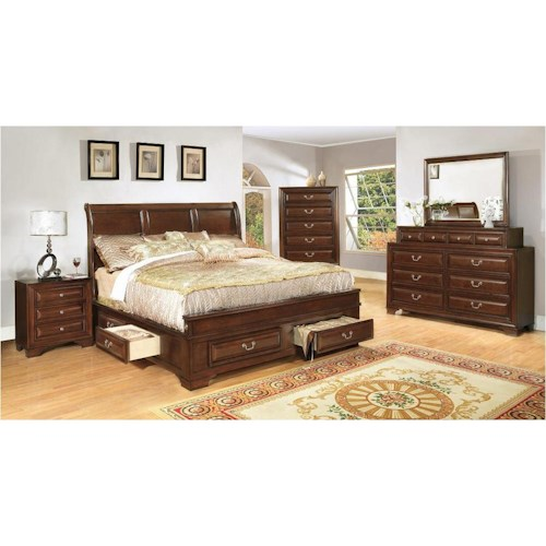 Lifestyle 1192 Transitional Queen Bedroom Group