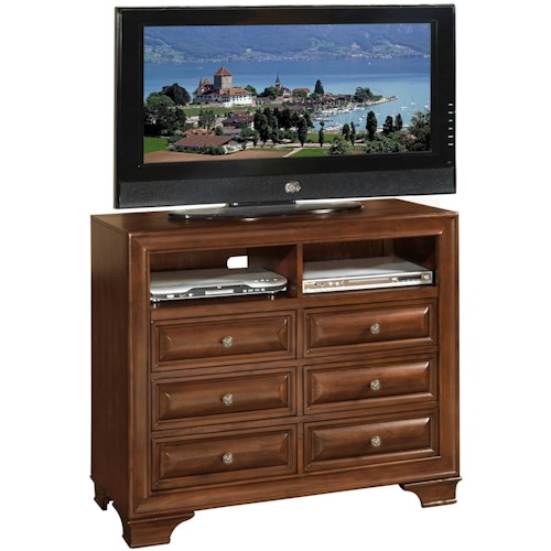 Lifestyle 1192 Transitional 6 Drawer Media Chest