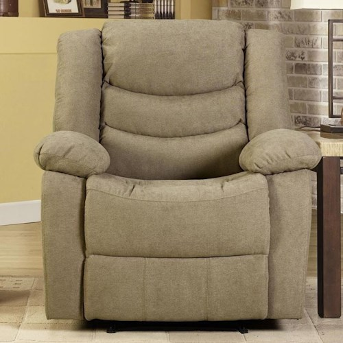 Lifestyle 12943 Recliner with Pillow Arms