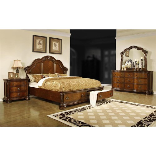 Lifestyle St. Charles 4-Piece Queen Storage Bedroom Set