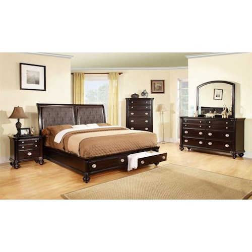 Lifestyle C2175A Bedroom Queen Storage Bed