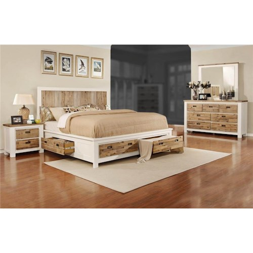 Lifestyle Tommy 4-Piece King Storage Bedroom Set