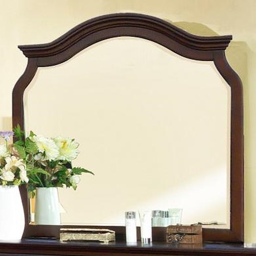 Lifestyle 2132A Traditional Dresser Mirror with Top Arch