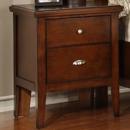 Lifestyle 4130A Nightstand with 2 Drawers