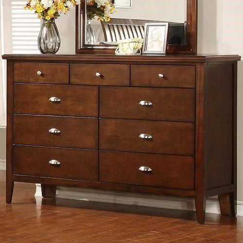 Lifestyle 4130A Dresser with 9 Drawers
