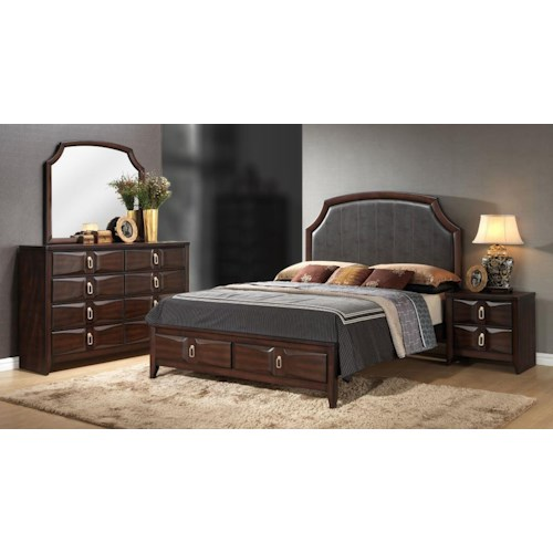 Lifestyle Avery 4PC King Storage Bedroom Set