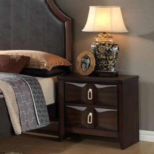 Lifestyle 4157A Transitional Nightstand with Two Drawers