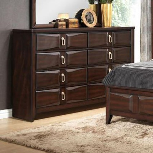 Lifestyle Avery Transitional Eight Drawer Dresser