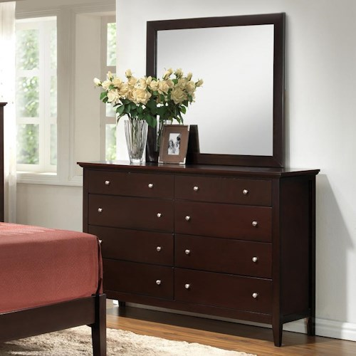 Lifestyle 5125 Drawer Dresser w/ Mirror
