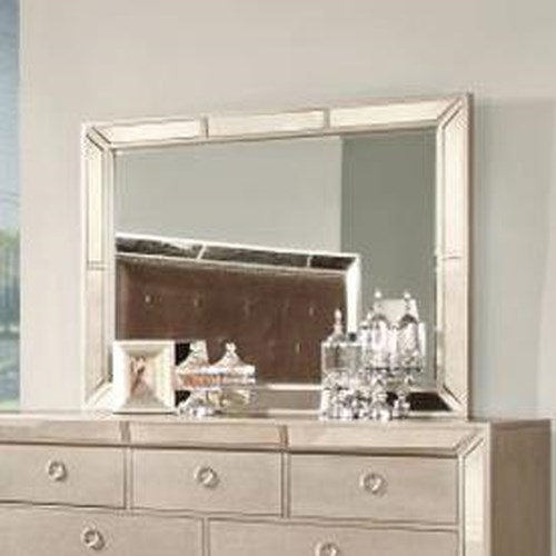 Lifestyle 5218A Glam Mirror with Antiqued Mirror Insert Frame