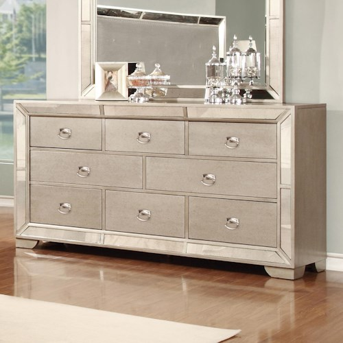 Lifestyle 5219A Dresser with 7 Full Extension Drawers