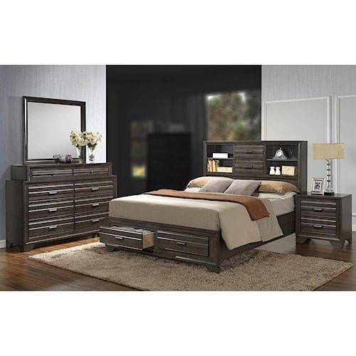 Lifestyle Slater 4PC King Storage Bedroom Set