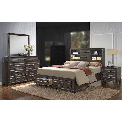 Lifestyle Slater 4PC Queen Storage Bedroom Set