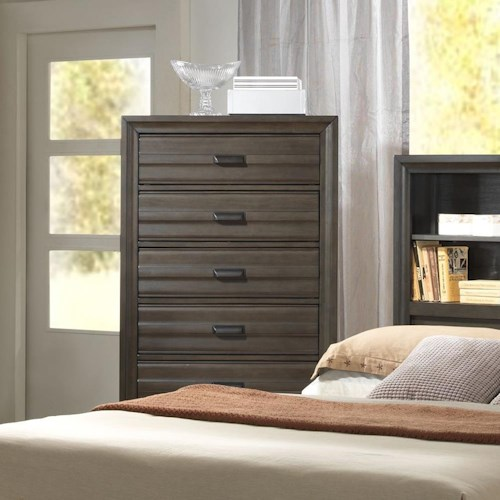 Lifestyle 5236A Chest with 5 Drawers